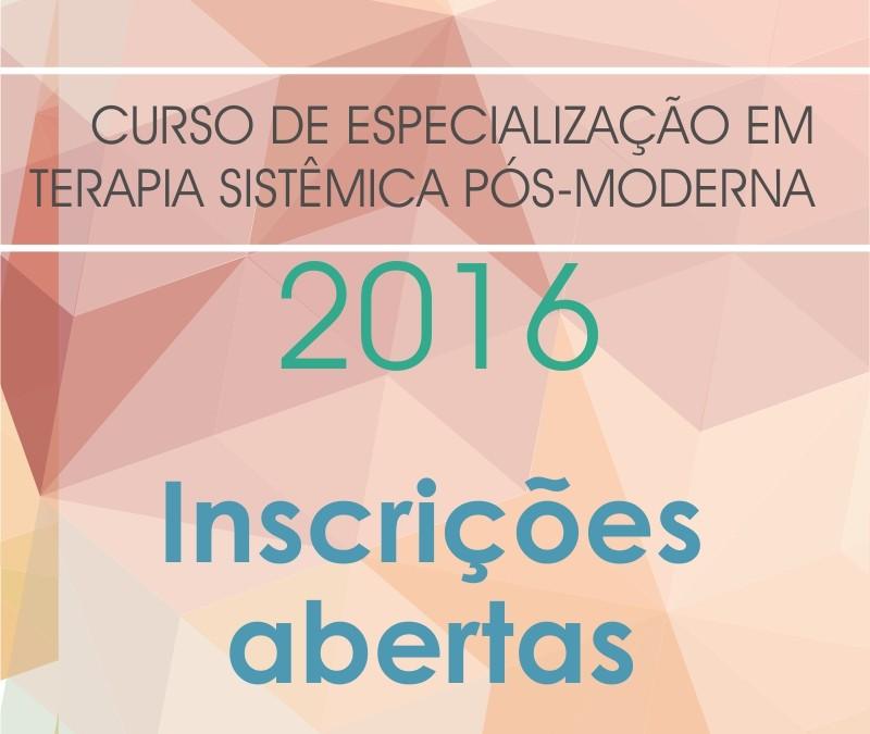 Inscrições abertas para o Curso de Especialização