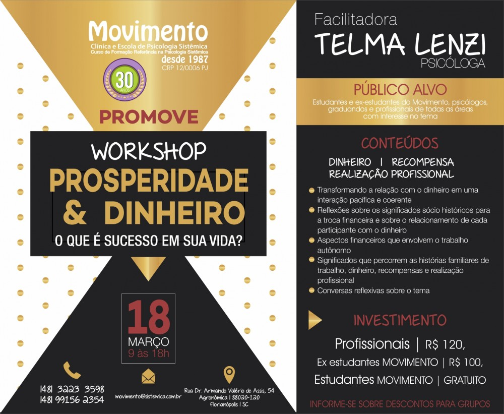 WORKSHOP PROSPERIDADE